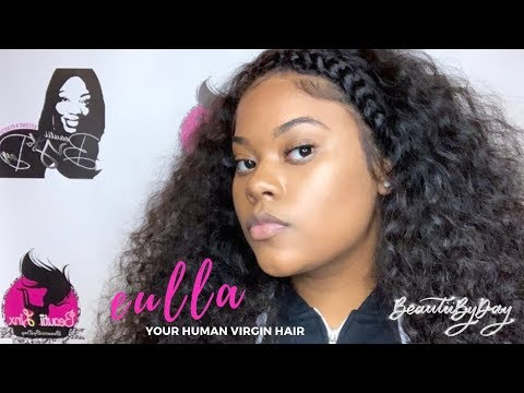 Brazilian Deep Wave Frontal WIG with HALO BRAID and BABY HAIR