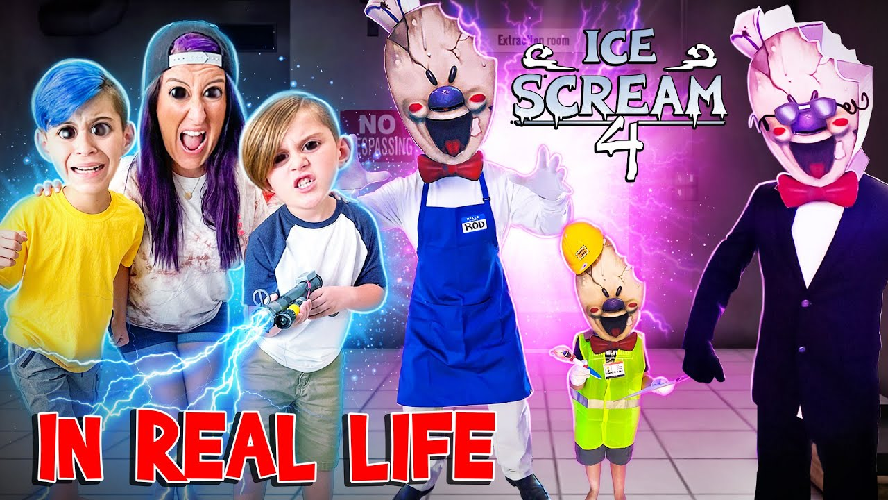 Download ICE SCREAM 4.. IN REAL LIFE (FUNhouse Family) RODS FACTORY