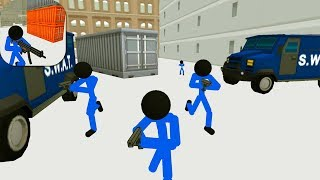 Stickman Prison: Counter Assault Android Gameplay HD (by Madhawk Games)