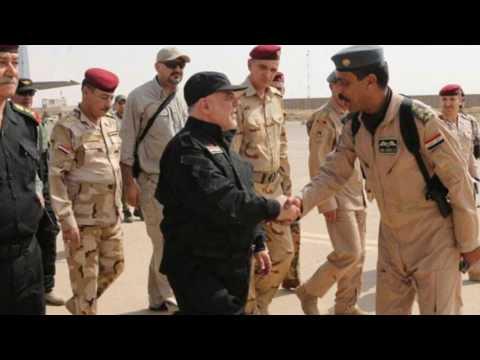 Iraqi leader Haider Al Abadi congratulates troops in Mosul fight goes on