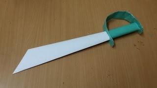 How to make a Pirate Sword by Paper