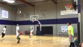 Kayden Lamebull-Ingram working out with Pure Advantage