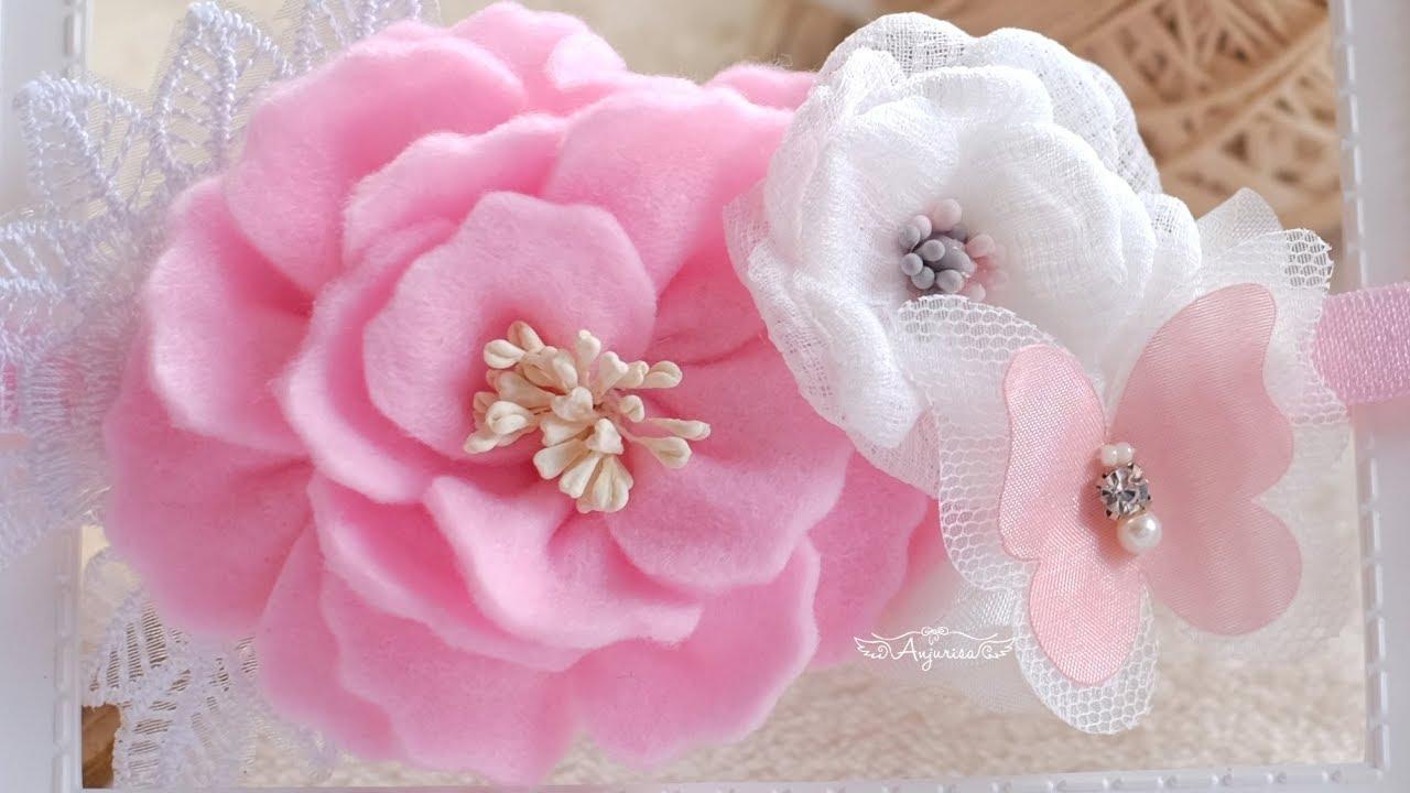 Felt Succulent Baby Headband