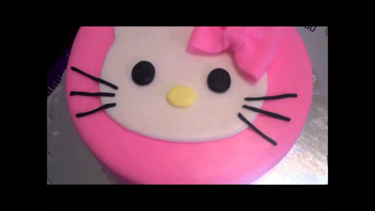 Making A Hello Kitty Birthday Cake For Our Baby Girl Youtube