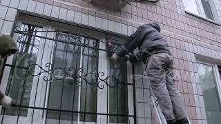 Установка кованых решеток  РК-107 ---- ООО ''Стальной Декор''(ООО