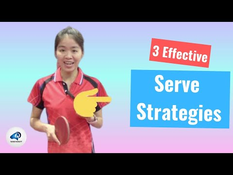 3 Effective Serve Strategies to Win in Table Tennis