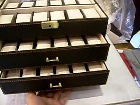 Caja para guardar relojes de 48unid con perfecto acabado y - Como hacer un reloj de pared ...