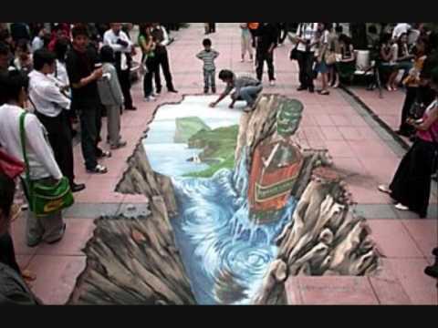 Chalk guy: Amazing the world