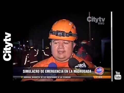 Citytv: Simulacro de evacuación en el centro de Bogotá