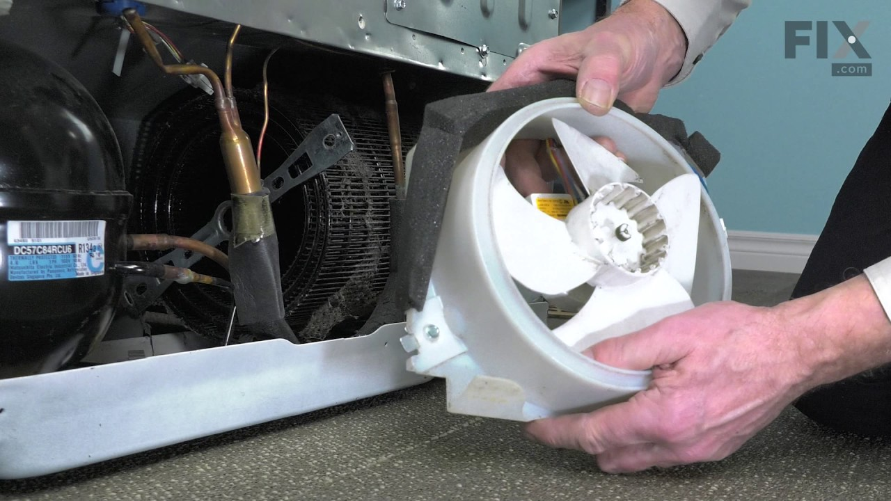 Ge Repair Refrigerator How To Replace The Condenser Fan