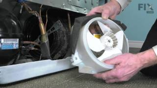 GE  Repair Refrigerator – How to replace the Condenser Fan Motor