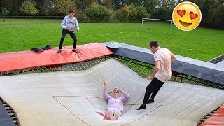 JUMPING ON THE WORLDS BOUNCIEST TRAMPOLINE!!