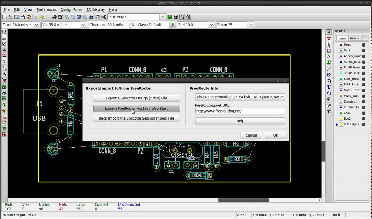 KiCad (Free/Opensource Circuit-board design software) – Designing