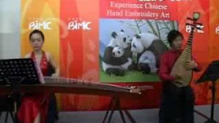 琵琶、二胡、古筝三重奏《春江花月夜》传统乐曲 演奏者:江洋、王颖、宋心馨 我在现场 CCTV com   Google Chrome