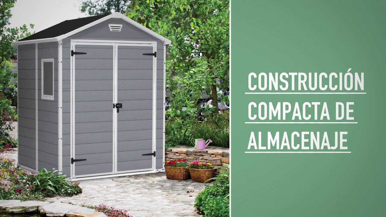 keter manor 6x5 outdoor garden storage shed es