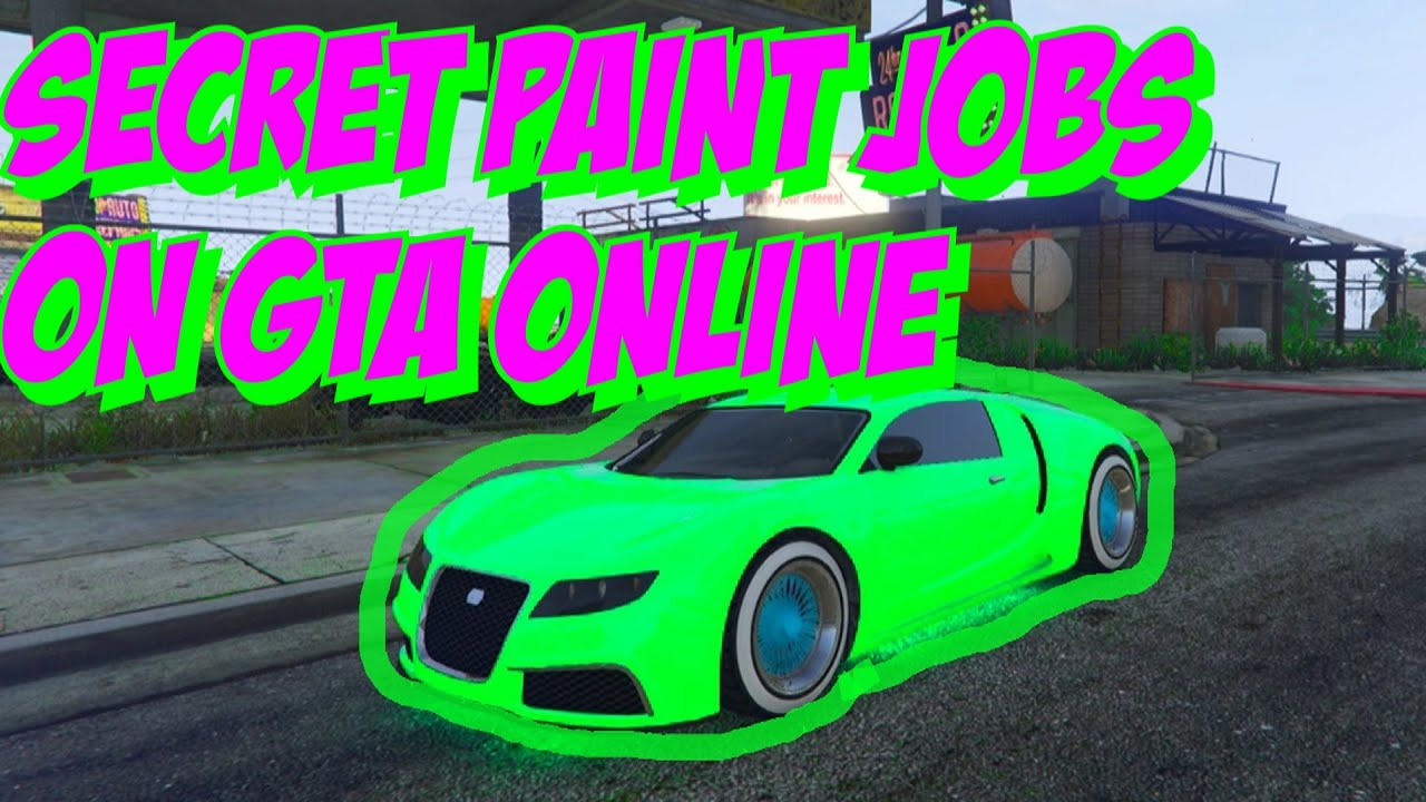 Test Paint Color Online Gta 5 Online Secret Car Colors Glowing Green Shiny Blue Toxic