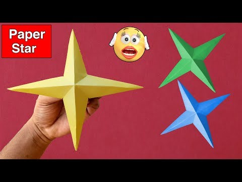 ►► Paper Craft: How To Make 3D Paper Star Easy Step By Step | Lovely Easy Crafts