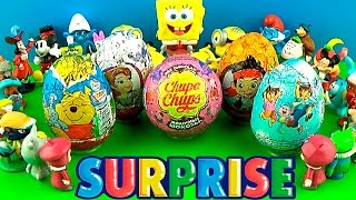 5 surprise eggs with toys opening