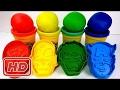 Play-Doh Super moldes y botellas de Lollipop aprenden colores dedo familia rimas para niños