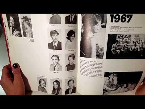 ASMR-1967 Yearbook - page turning- soft spoken- rambling