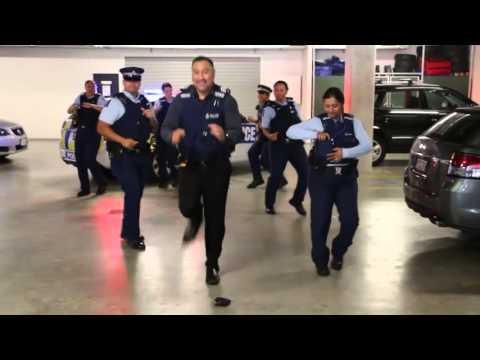 New Zealand Police Running Man Challenge