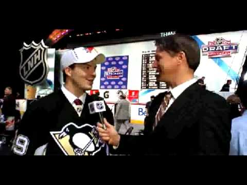 Simon Despres interview after being drafted by the Pittsburgh Penguins