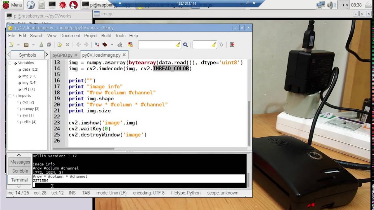 Python OpenCV Get Image Properties