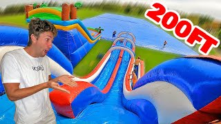 Worlds Largest Slip N Slide! *Police Called*