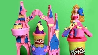 Play Doh Magical Designs Palace Princess Aurora Gliiter Sparkle Mix 'n Match Playdough Birthday Cake