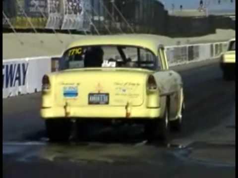 Serious 1955 Chevrolet Bel Air burnout