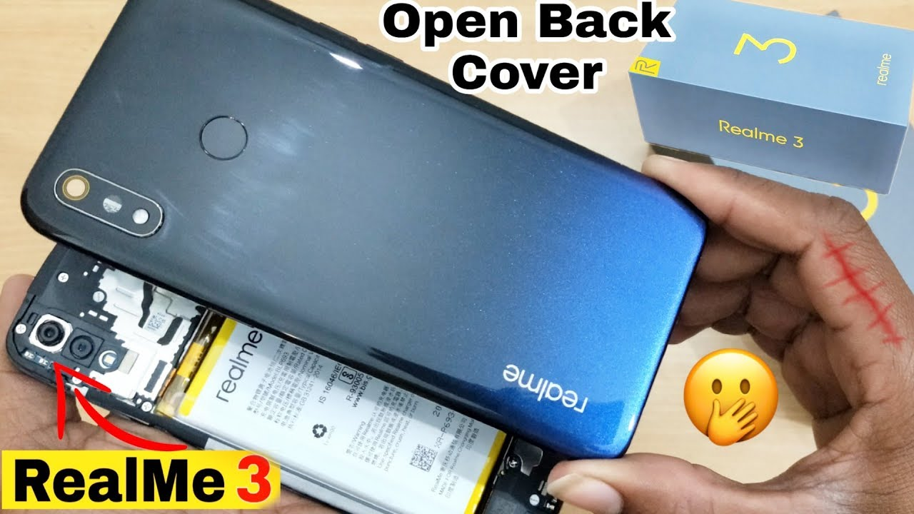 How to Open Back Cover Realme 3 | Remove Back Cover | Replace Back Panel  Realme 3 - Back Cover 👍👌