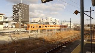 桑名駅ニテ、養老鉄道・着