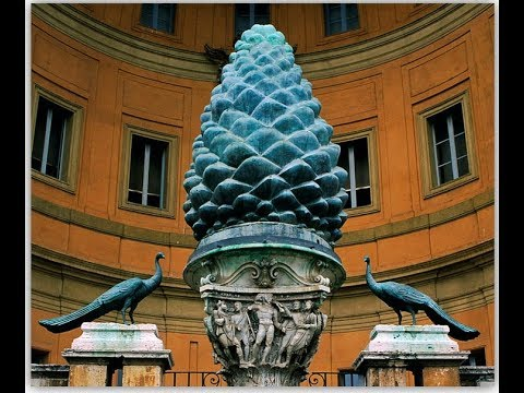 2680【08】 Why Pine Cone in Vaticanなぜヴァチカンに松ぼっくりがあるのか+脳内の謎の松果体by Hiroshi Hayashi, Japan