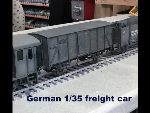 Building and painting Ironside Models 1/35 German freight Car