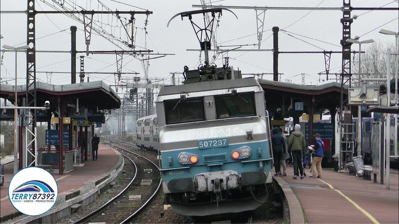Passage de trains et RER D sur la ligne Paris - Lyon - Marseille en gare de Melun - YouTube