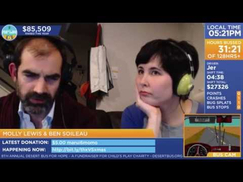 DB8 - Molly Lewis Call-In, sporting a penguin onesie