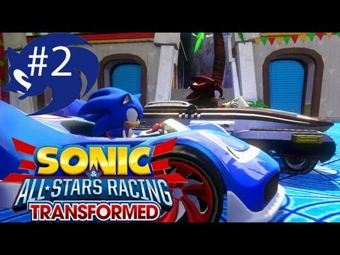 Sonic vs Shadow in Sonic All Stars Racing TRANSFORMED Part 2 HD