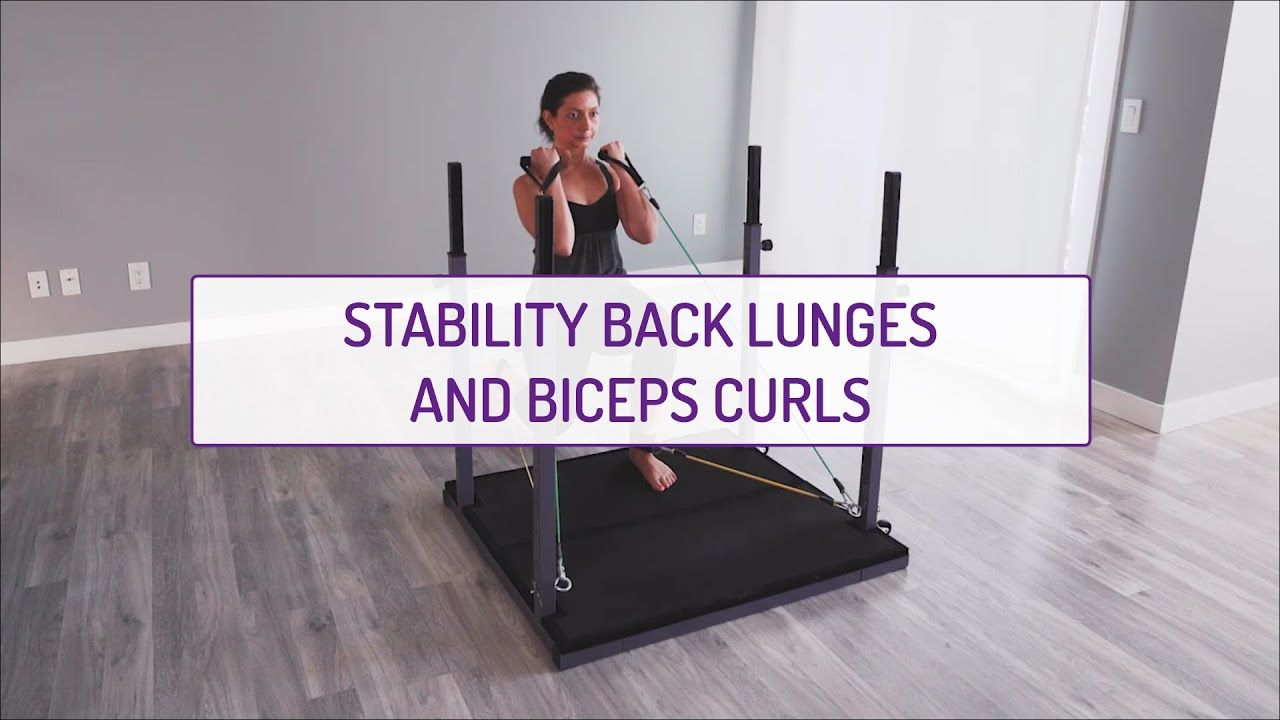 Home Exercises | Stability Back Lunges and Biceps Curls  | Strength & Stability | Legs & Biceps