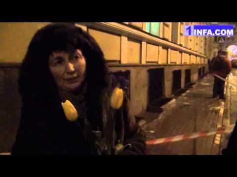 Очень занимательное видео с акции памяти у посольства Украины в Москве