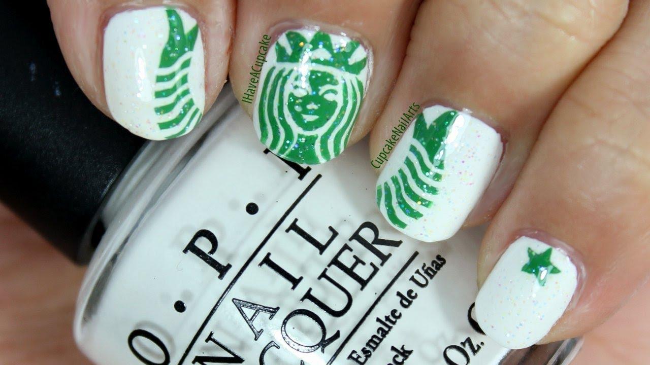 Starbucks Nail Art Youtube