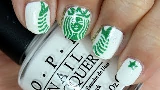 Starbucks Nail Art