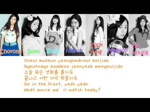 Apink It Girl Lyrics Color Coded