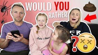 WOULD YOU RATHER? 😱 PARENT vs KiDS EDiTiON!