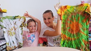 3 Colors Tie Dye Challenge cu Tricouri! Design Your Own T-shirt Sofia Show RO