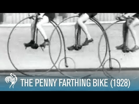 The Penny Farthing Bike Race (1928) | British Pathé