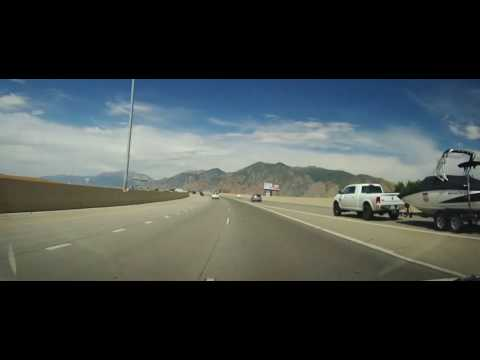 Driving from Provo, UT to Salt Lake City on Interstate 15