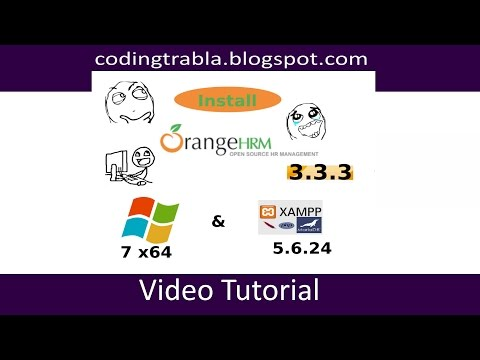 Install OrangeHRM 3.3.3 On Windows 7 Localhost - Open Source PHP HR Management ByAO