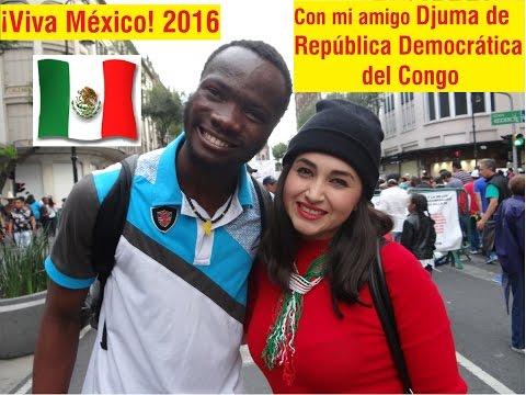 Con mi amigo Djuma de República Democrática del Congo - ¡Viva México! 2016 - Un día con Aylin #24