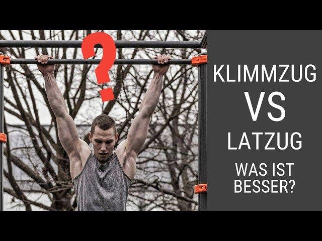 Klimmzüge oder Latzug (was ist BESSER?)