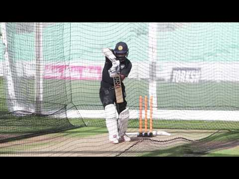 Kumar Sangakkara batting in the nets